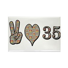 Cute 35 birthday Rectangle Magnet
