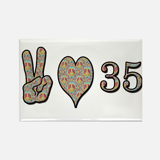 Cute Happy 35th birthday Rectangle Magnet