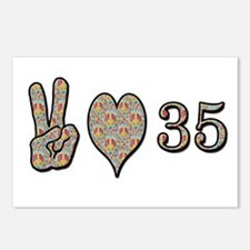 Cute 35th birthday Postcards (Package of 8)