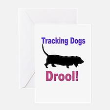 Basset Hound Tracking Greeting Card