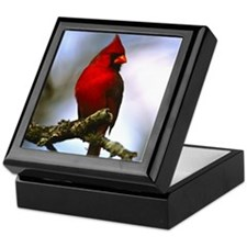 Cardinal Bird Photo Keepsake Box