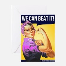 Rosie Can Beat Breast Cancer Greeting Card