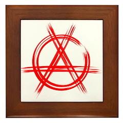 AnArChY RED Framed Tile