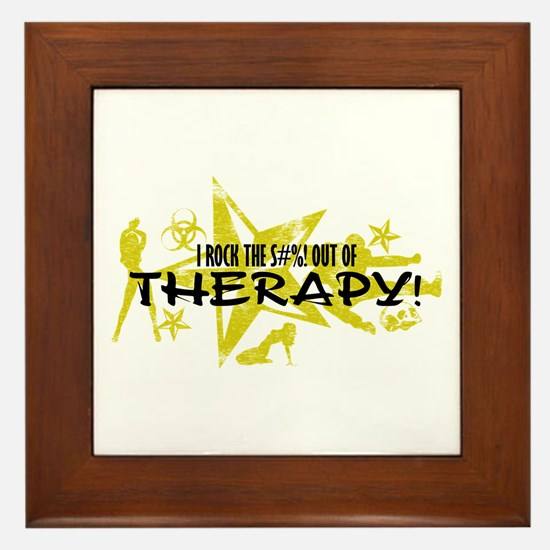 I ROCK THE S#%! - THERAPY Framed Tile
