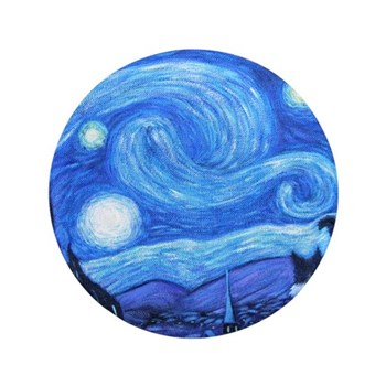 """Starry Night Border Collies 3.5"""" Button"""