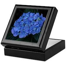 Blue Hydrangea Flower Photo Keepsake Box