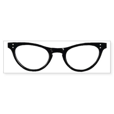 Librarian Glasses Sticker (Bumper)