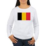 Belgian Flag Women's Long Sleeve T-Shirt