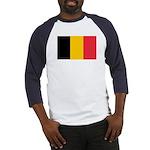 Belgian Flag Baseball Jersey
