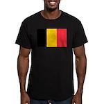 Belgian Flag Men's Fitted T-Shirt (dark)