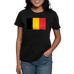 Belgian Flag Women's Dark T-Shirt