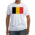 Belgian Flag Fitted T-Shirt
