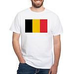 Belgian Flag White T-Shirt