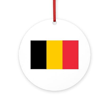 Belgian Flag Ornament (Round)
