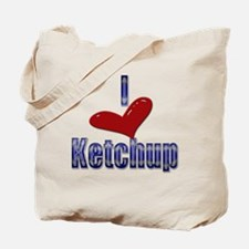 I love Ketchup Funny LOL Desi Tote Bag