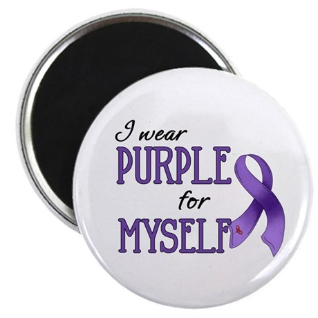 "Wear Purple - Myself 2.25"" Magnet (100 pack)"