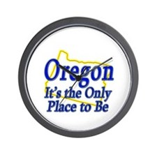 Only Place To Be - Oregon Wall Clock