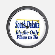 Only Place To Be - South Dakota Wall Clock