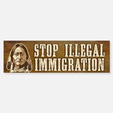 Illegal Immigration Sticker (Bumper)