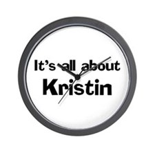 It's all about Kristin Wall Clock
