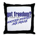 Got Freedom? USAF Throw Pillow