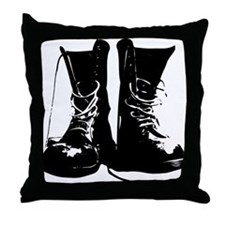 Combat Boots Throw Pillow