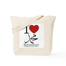 'I Love Muhammad' Tote Bag