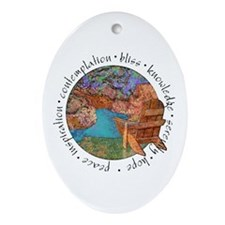 Red Canyon Oval Ornament