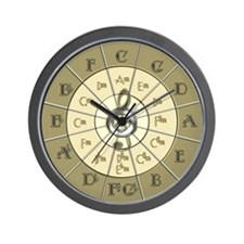 Circle of Fifths Deco Gold Wall Clock