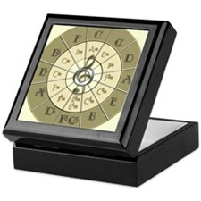 Circle of Fifths Deco Gold Keepsake Box