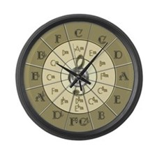 Circle of Fifths Deco Gold Large Wall Clock