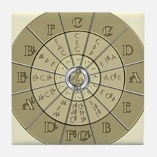 Circle of Fifths Deco Gold 2 Tile Coaster