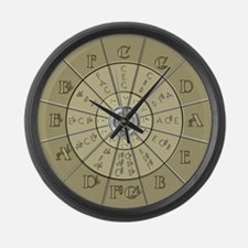 Circle of Fifths Deco Gold 2 Large Wall Clock