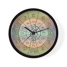 Circle of Fifths Pastel Wall Clock