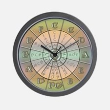 Circle of Fifths Pastel 2 Wall Clock