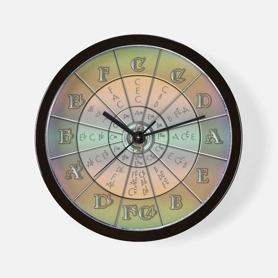 Circle of Fifths Pastel 2 Wall Clock