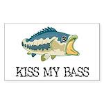 Kiss My Bass Rectangle Sticker