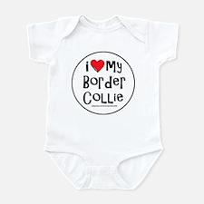 I Love My Border Collie Infant Bodysuit