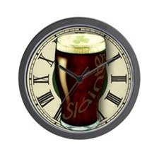 Irish Stout Slainte Wall Clock