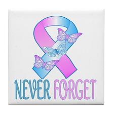 Pregnancy & Infant Loss Ribbon Tile Coaster
