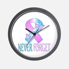 Pregnancy & Infant Loss Ribbon Wall Clock