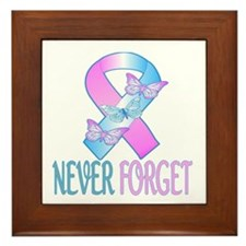 Pregnancy & Infant Loss Ribbon Framed Tile
