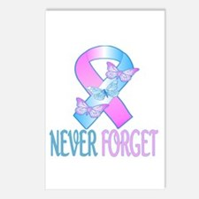Pregnancy & Infant Loss Ribbon Postcards (Pack