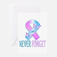 Pregnancy & Infant Loss Ribbon Greeting Card