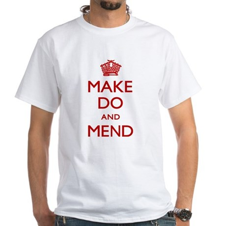 Make Do and Mend White T-Shirt