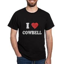 I Love [Heart] Cowbell T-Shirt