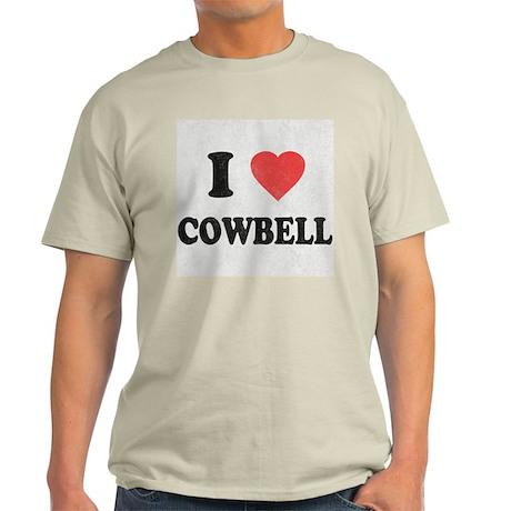 I Love [Heart] Cowbell Light T-Shirt
