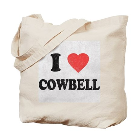 I Love [Heart] Cowbell Tote Bag