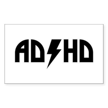 ADHD Rock Sticker (Rectangle)