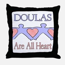 Doulas Are All Heart Throw Pillow